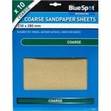 Bluespot 10 Pce Coarse Sandpapers - Sandpaper Mixed Grit Sheets Pack Free Pp -  sandpaper mixed grit sheets pack 10 free pp fine medium coarse blue