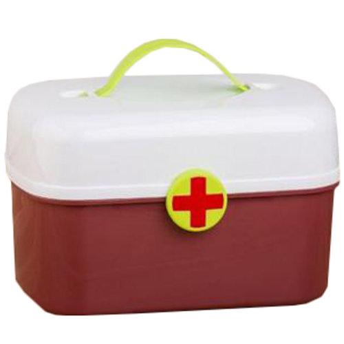 Portable Household First-Aid Kit/Medicine Storage Box Pill Organizer Coffee