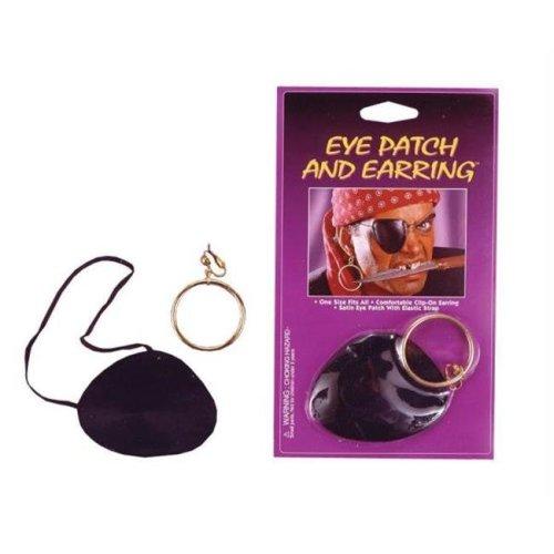 Morris Costumes FW9108 Eye Patch Satin W Earring