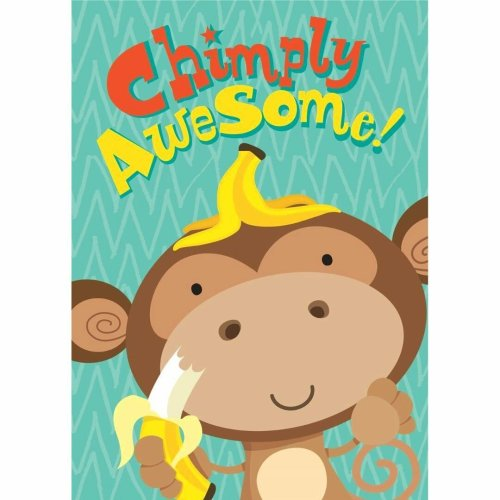 Hallmark Chimply Awesome Monkey Design Birthday Card With Envelope On OnBuy