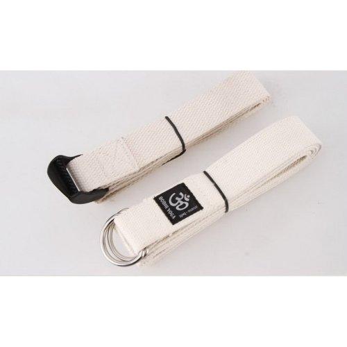 Yoga Stretch Strap 250 CM Long D-ring Yoga Strap (Beige)