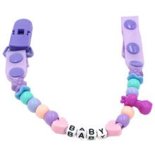 Baby Pacifier Leashes/Cases Special Pacifier Clips Pacifier Holder Purple Baby