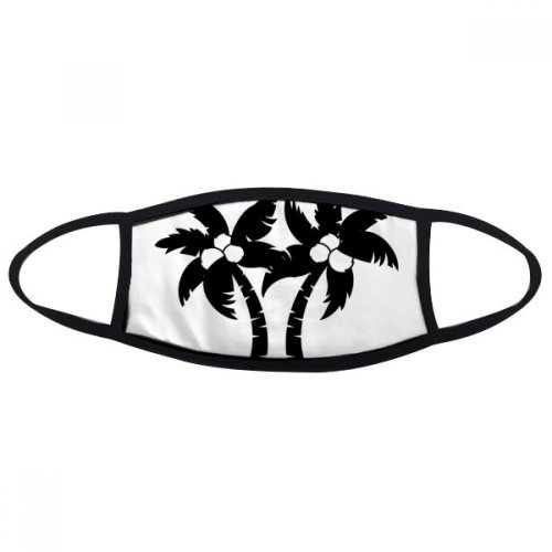 Black Coconut Tree Plant Silhouette Mouth Face Anti-dust Mask Anti Cold Warm Washable Cotton Gift
