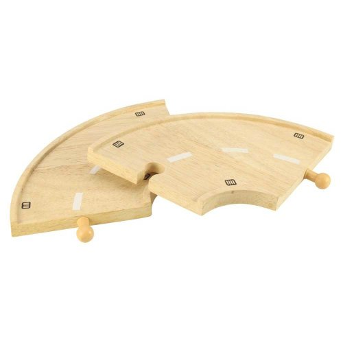 Bigjigs Wooden Road Curved Roadway