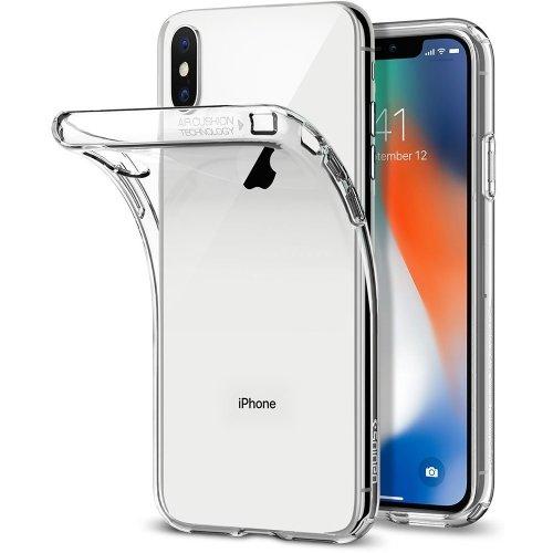 iPhone X Case, Spigen Soft Gel Liquid Crystal Clear Cover