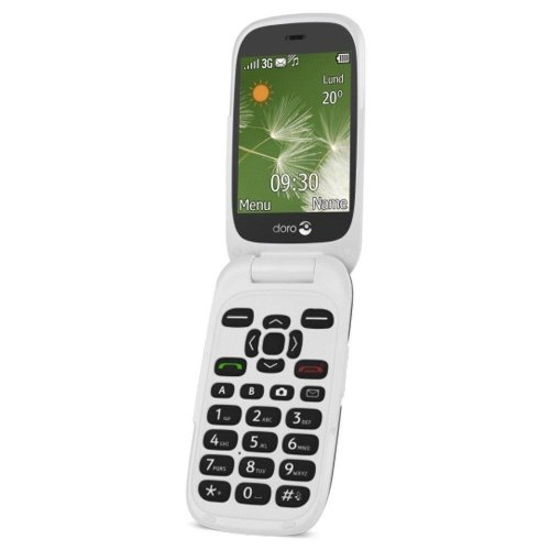 Doro 6520 Sim Free Mobile Phone - 2 mega pixel camera - Graphite/White
