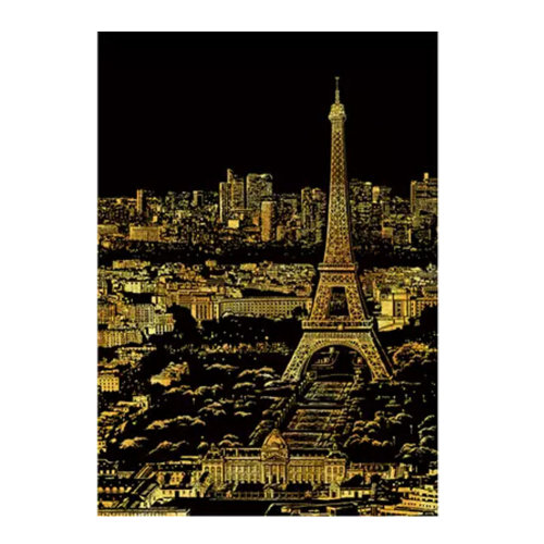 Paris: The New DIY Creative Scratch Night View Scraping Painting