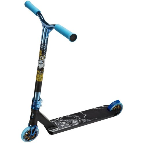 (Matt Black & Blue) Team Dogz Pro X Ultimate Kids' Stunt Scooter