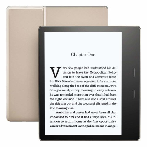 "Kindle Oasis E-reader - Gold, Waterproof, 7"" High-Resolution Display (300 ppi), Built-In Audible, 32 GB Wi-Fi"