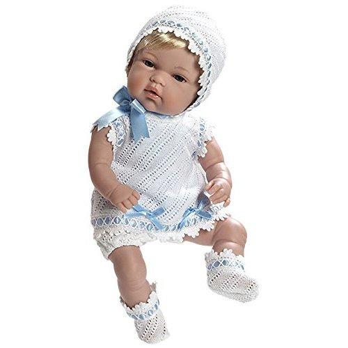 Arias 33 cm Elegance Natal Baby Girl Doll in a Bag (Blue)