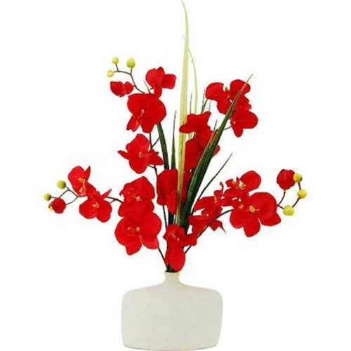 Designs by Lauren 16F26 24 in. Phalaenopsis Orchids in a White Bottle Neck Ceramic Pot