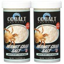 (2 Pack) Cobalt Aquatics Hermit Crab Salts freshwater bath, 7 oz