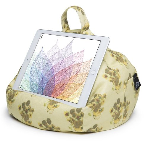 iBeani iPad & Tablet Stand/Bean Bag Cushion Holder for All Devices/Any Angle on Any Surface - Vincent Van Gogh Sunflowers
