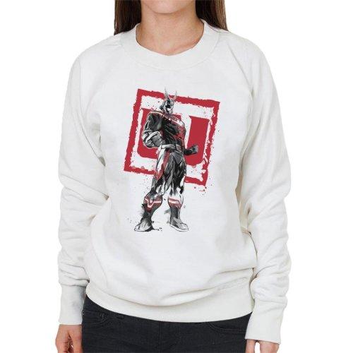 All Might Sumi E My Hero Academia Women's Sweatshirt