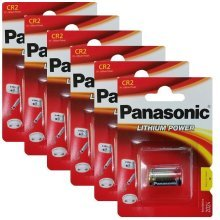 6 x Panasonic CR2 3V Lithium Photo Battery DLCR2 KCR2 CR17355 Camera