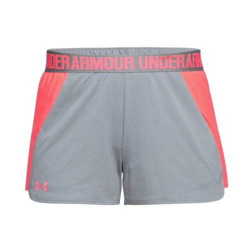 Under Armour New Play Up 3'' Short 2.0 1292231-031 Womens Grey shorts
