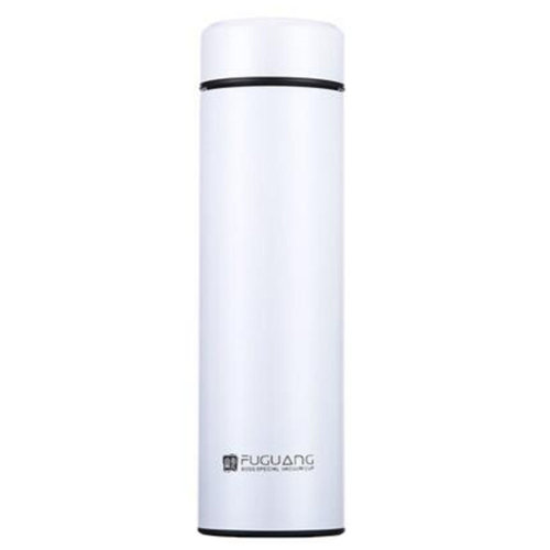Durable Water Bottle  Insulated Cup Stainless Steel Vacuum, 500ml, White