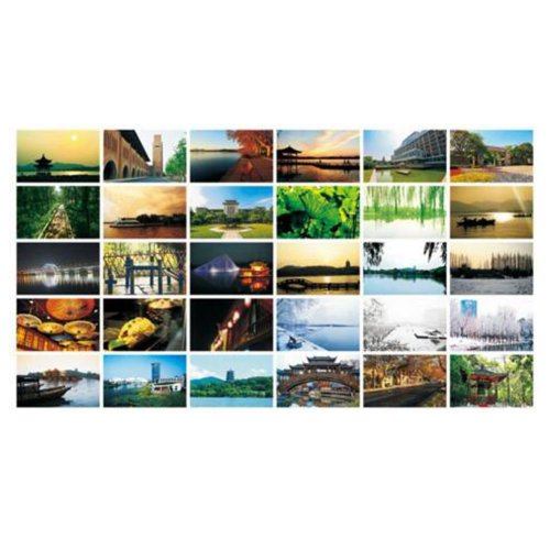 30PCS 1 Set Creative Postcards Artistic Beautiful Postcards, Hangzhou Impression
