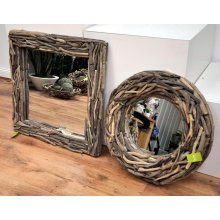 Decorative Wood Mirror Square