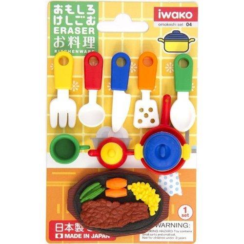 Iwako erasers kitchenware 10 pieces rubber set