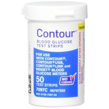 Contour Bayer Blood Glucose, 50 Test Strips