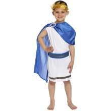 Kids Roman Caesar Fancy Dress Costume