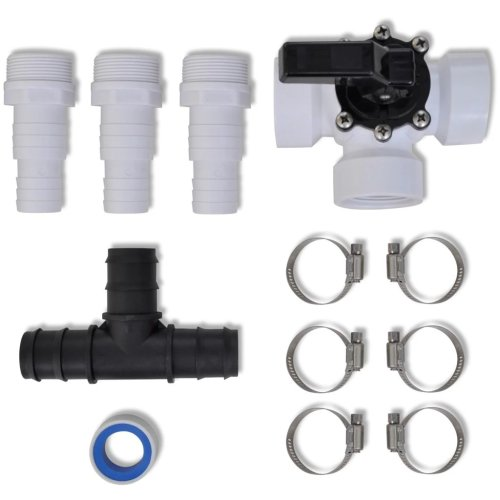 vidaXL Bypass Kit for Pool Solar Heater Set Heating System Spa Accessories