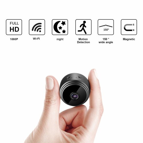 Wifi Mini Spy Hidden Camera Eternal eye Wireless ip camera HD 1080P with Motion Detection Night Vision Security Cameras, Nanny Baby Pet Cam for...