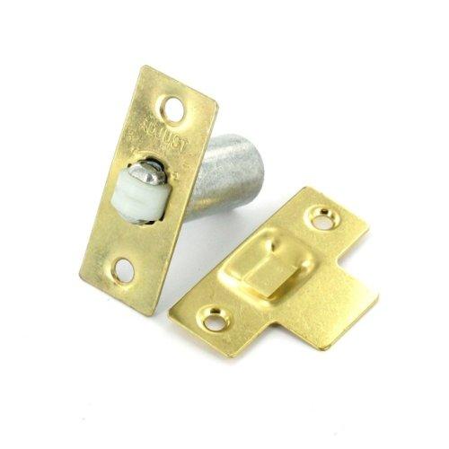 Securit Adjustable Roller Ball Door Catch - Polished Brass
