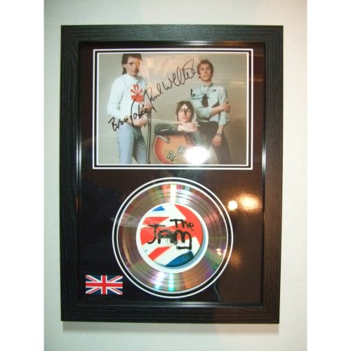 THE JAM SIGNED GOLD DISC DISPLAY