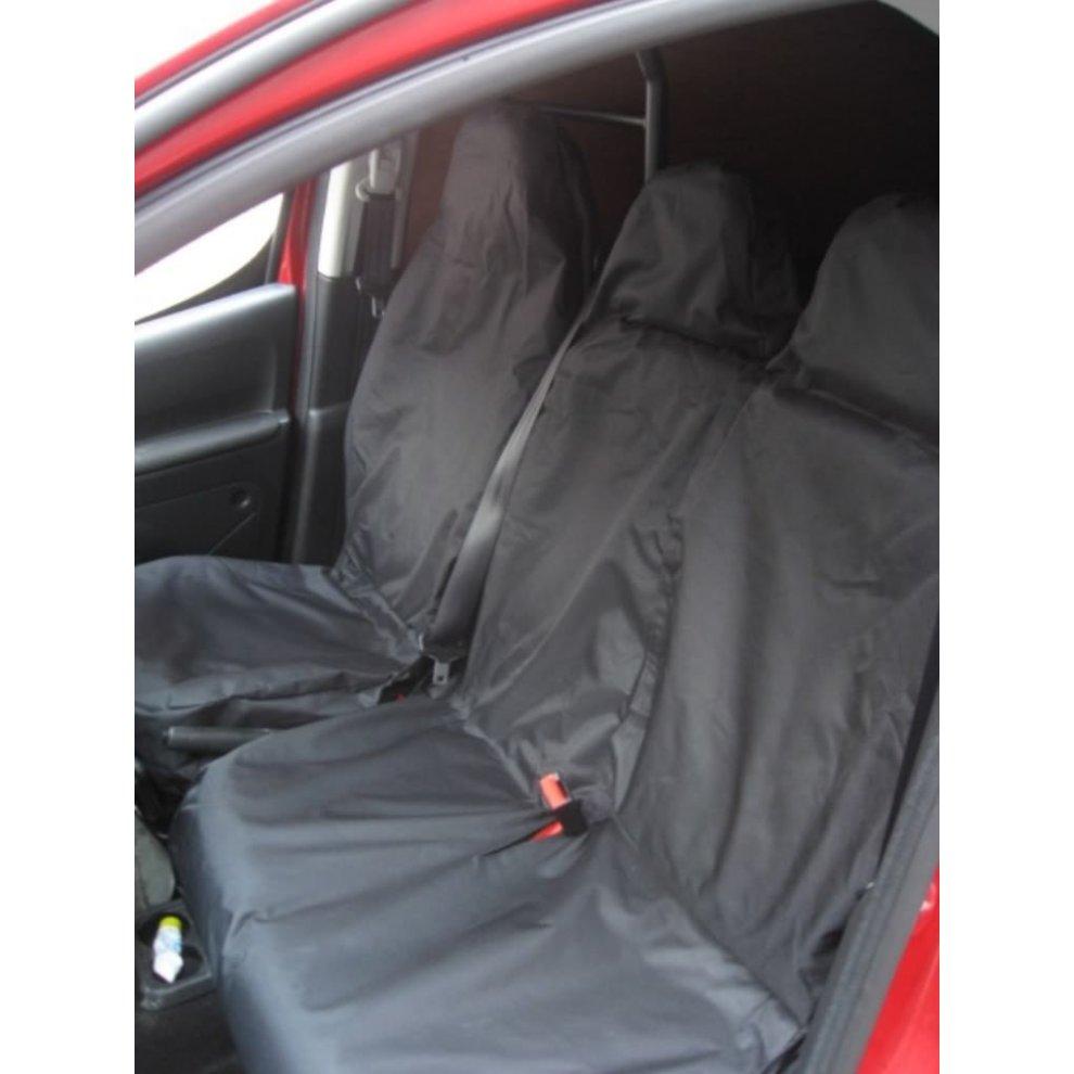 Van Seat Covers >> Xtremeauto Universal Black Extra Heavy Duty Van Seat Covers Set