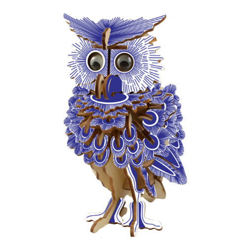 Set of 2 Creative Wooden Puzzles Lovely Owl Model Meaningful Gifts