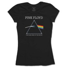 Pink Floyd Women's Dsotm Refract Short Sleeve T-shirt, Black, Size 12