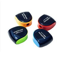 4PCS  School Smart Hand Held Plastic Pencil Sharpener-Assorted Colors