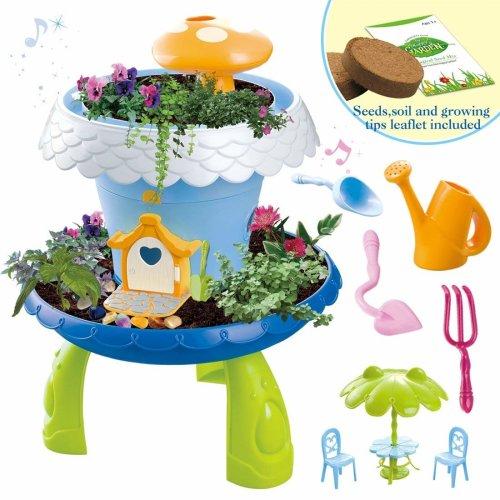 deAO Fairy Tale Garden Magical Cottage Playset DIY Miniature Gardening