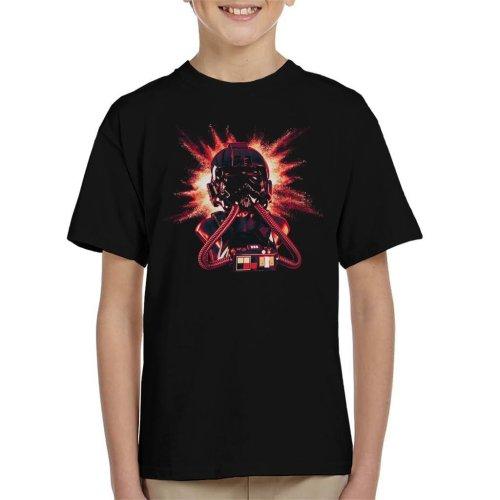 Original Stormtrooper Imperial Pilot TIE Helmet Explosion Kid's T-Shirt