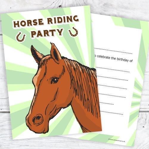Olivia Samuel Horse Riding Party Invitations
