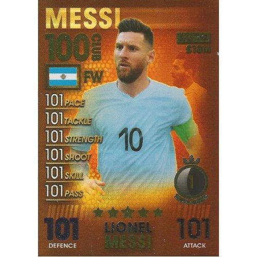 MATCH ATTAX 101 2019 LIONEL MESSI 100 CLUB CARD