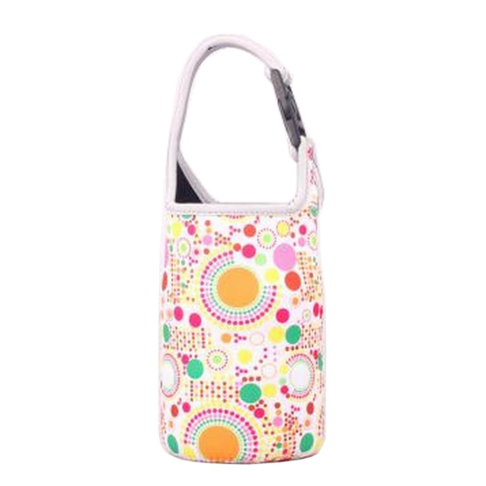 5d6e1288b4a9 Lovely Baby Bottle Tote Bag Food Jar Tote Bag Lunch Box Bag Colorful Dot