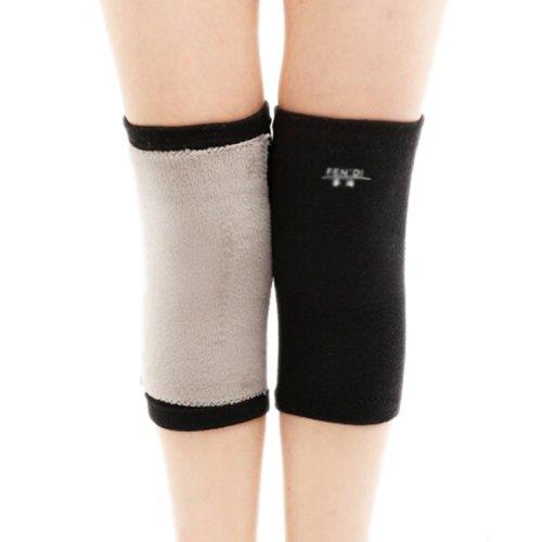 Soft Knee Brace Sleeve for Sports/Yoga/Dance/Arthritis/Joint Pain Black (M)