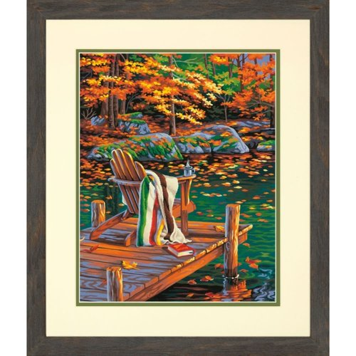 "Dpw91468 - Paintsworks Paint by Numbers 14"" X 11"" - Golden Pond"