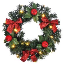 LED Christmas Door Wreath | Festive Wreath With Lights