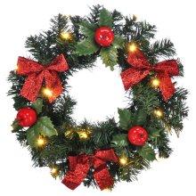 LED Christmas Door Wreath | Festive Wreath With Lights