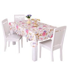 Practical PVC Waterproof Tablecloth Table Mat, PINK Flowers (137*183cm)