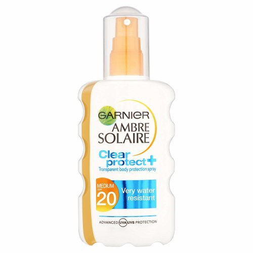 Garnier Ambre Solaire Clear Protect Sun Protection Cream Spray SPF 20 200ml (Sunscreen SPF20)