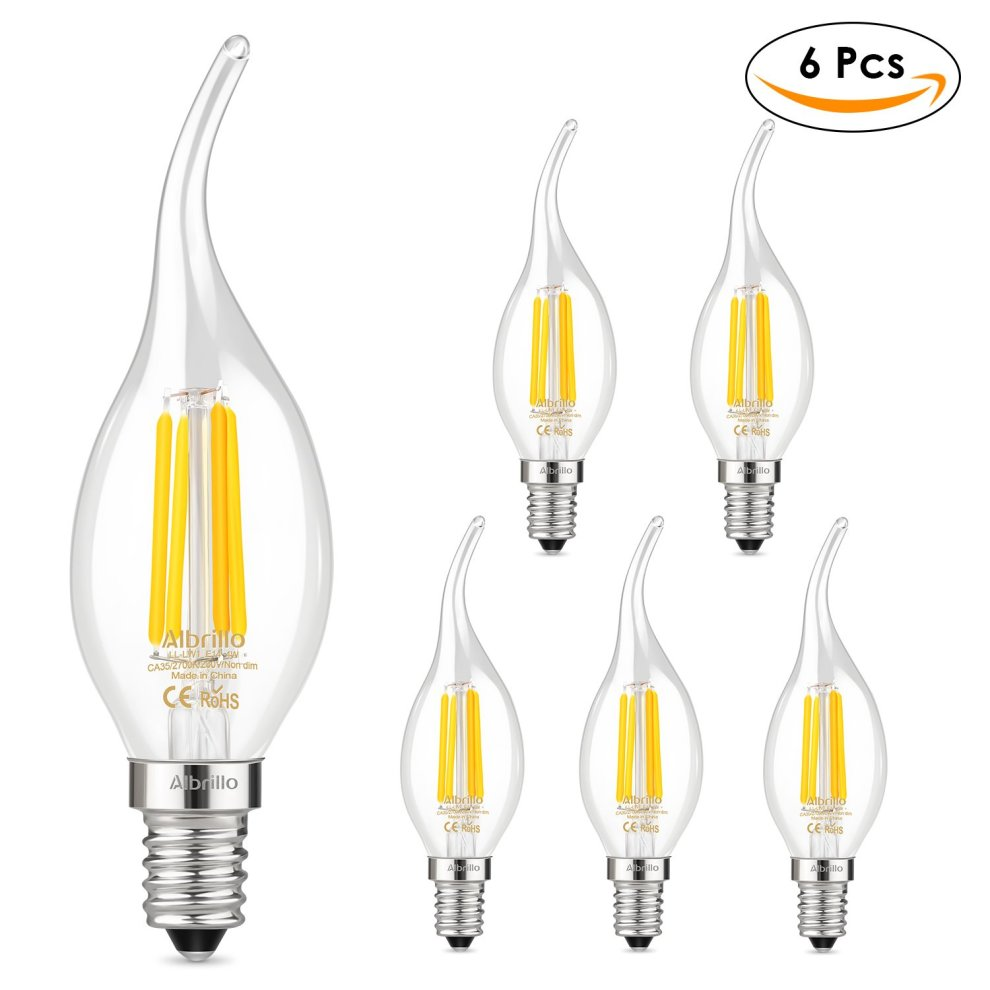 6pcs Led Candle Bulbs E14 Candle Bulbs Dimmable 4w Soft Warm White 2700k Elegant Shape Lights & Lighting
