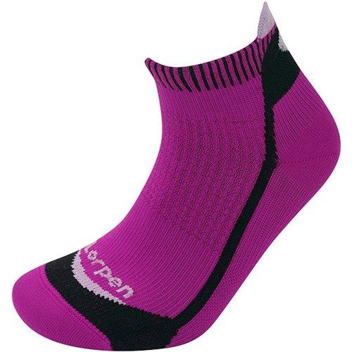 Lorpen Womens T3 Running Mini Socks Berry/Black (Medium UK 6-8)