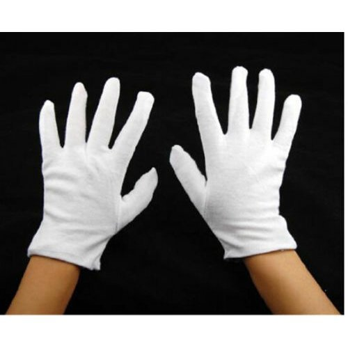 10 Pairs White Cotton Gloves Moisturising Gauntlets Lining Gloves