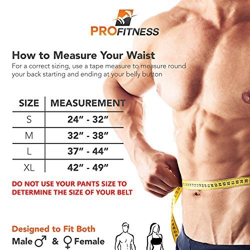 ProFitness Genuine Leather Workout Belt Weightlifting Gym Belt for Men and Woman Comes BlackRed Small