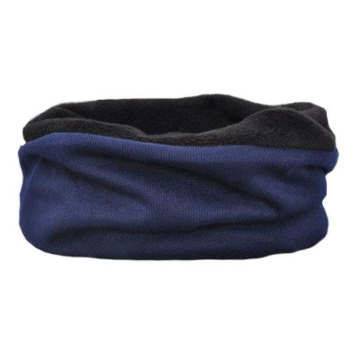 Unisex Warm Scarf Loop Scarfs Headscarf Head Wrap Neck Scarves Cap Hat Deep Blue